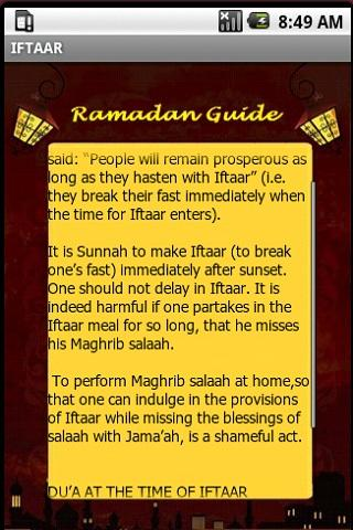 A Complete Ramadan Guide - screenshot