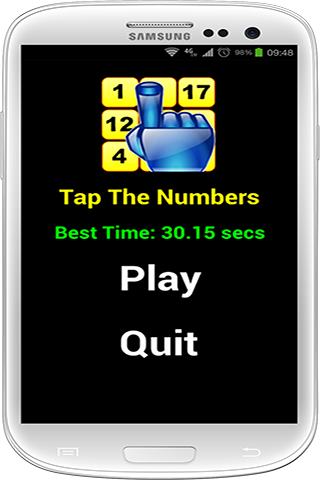 touch the numbers faster - tap