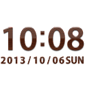 Oak clock widget -Me Clock icon