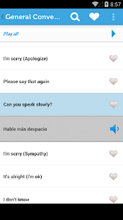 Learn Spanish Phrasebook - screenshot thumbnail