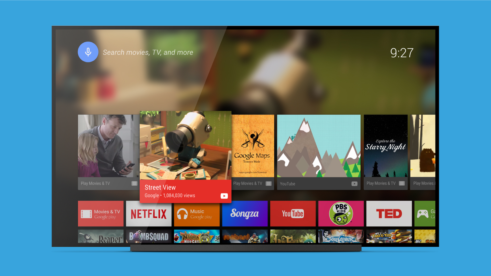 Android TV Launcher- screenshot