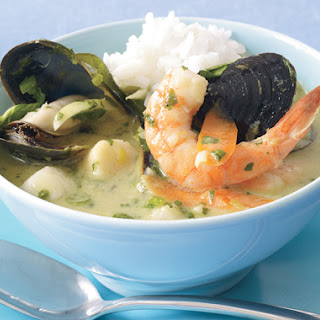 Thai Green Curry with Seafood.