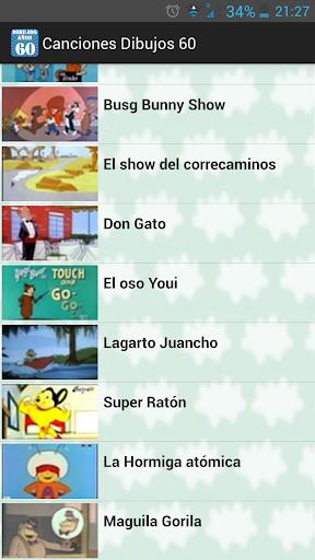 Canciones dibujos animados '60