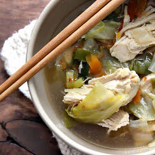 Spicy Chicken and Cabbage Soup.