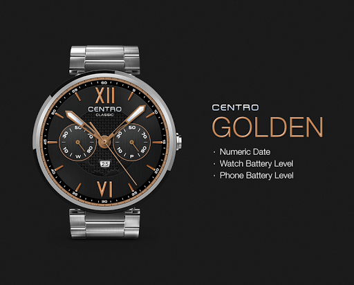 Golden watchface by Centro