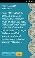 Screenshot of Daily Hadith