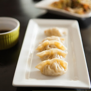 Chinese Potstickers with a Ginger-Scallion Dipping Sauce