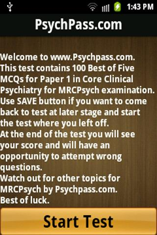 MRCPsych Core Clinical Paper 1