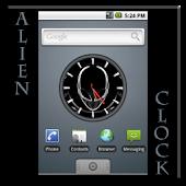 Alien Analog Clock Widget