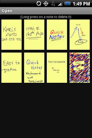 Quick Notes Free 1.1.6 screenshot 328003