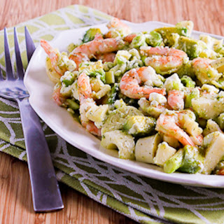 Lemony Shrimp Salad with Avocado, Heart of Palm, and Feta.