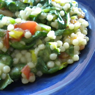 Basil Scented Spinach and Couscous.