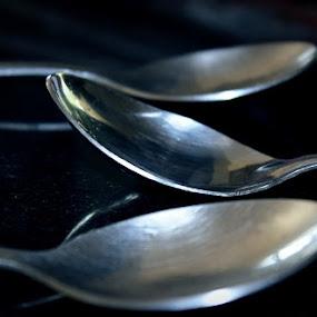 Resting Spoons by Kadhiravan Umasankar - Artistic Objects Cups, Plates & Utensils ( food, cutlery, spoon, eat, kitchen, silverware,  )