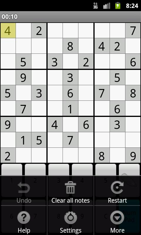 Classic Sudoku- screenshot