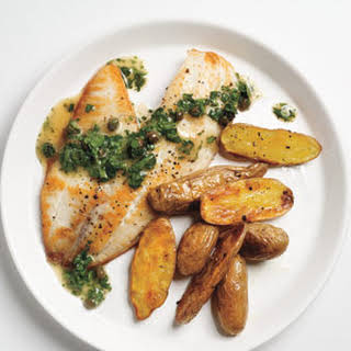 Tilapia With Caper-Parsley Sauce.