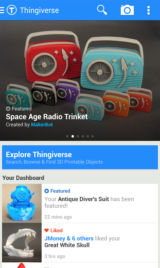 Thingiverse - screenshot