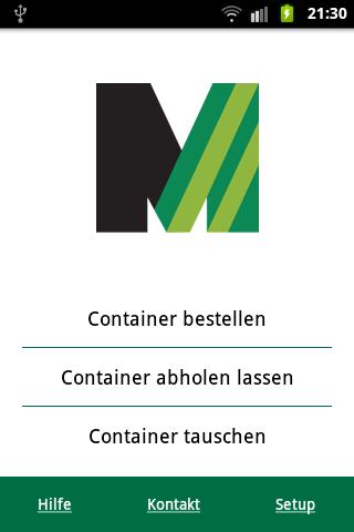 Meinhardt Container App – Screenshot