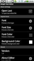 Screenshot of Simple Text Editor