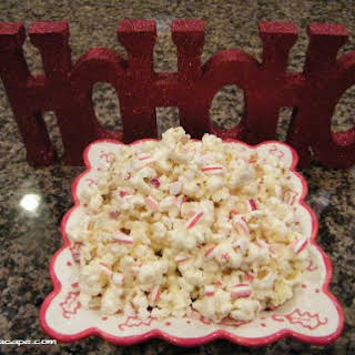 White Chocolate Candy Cane Popcorn.