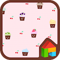 My cute cupcake dodol theme icon