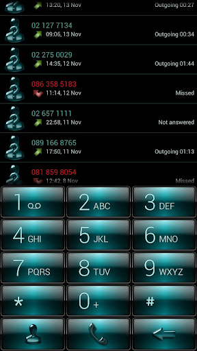 Dialer Gloss AquaGreen Theme
