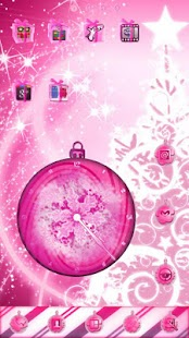 玩個人化App|PINK Christmas Clock Widget免費|APP試玩