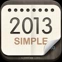 卓上カレンダー2013:シンプルカレンダー 「ウィジェット」 icon