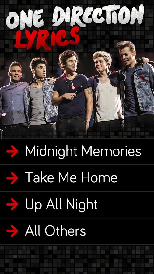 Download the One Direction Lyrics Android Apps On NoneSearch com