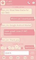 Screenshot of GO SMS/GOLauncher Flower theme