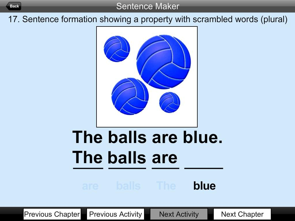 Word sentences maker