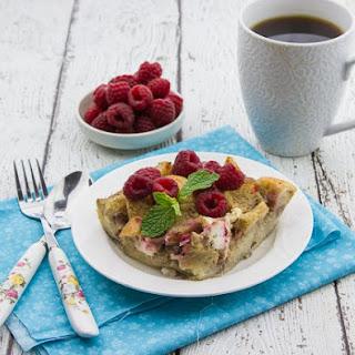 Overnight Raspberry & Cream Cheese French Toast.