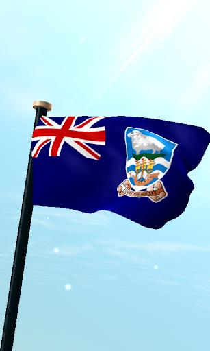 福克蘭群島旗3D免費動態桌布