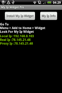 My Ip Widget Pro - screenshot thumbnail