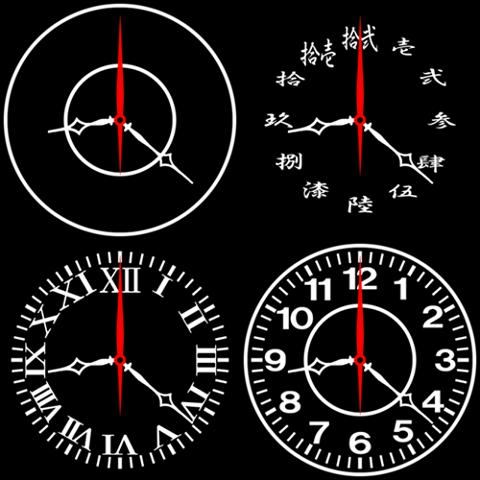 設計模擬時鐘壁紙