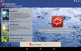 Screenshot of Wetterwarner