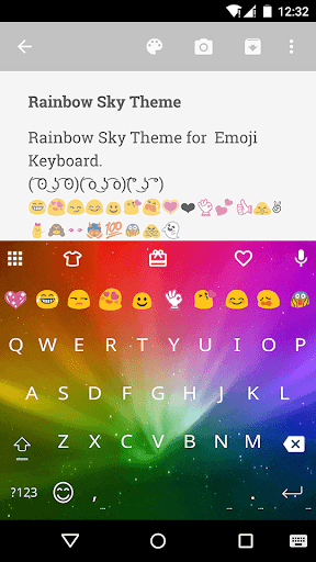 Rainbow Sky Emoji Keyboard