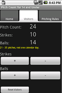 Baseball Pitch Counter 8 to 14 - screenshot thumbnail