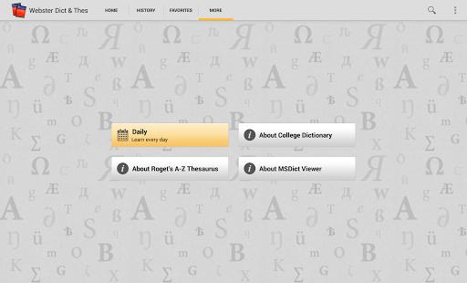 Webster's Dictionary+Thesaurus - screenshot thumbnail