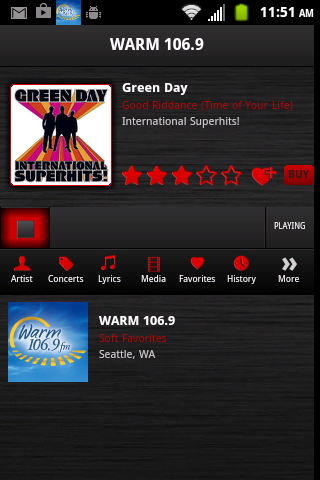 Warm 106.9 - screenshot