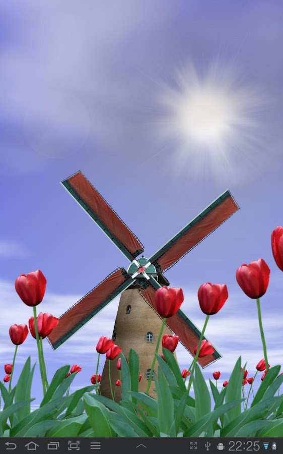 Tulip Windmill Live Wallpaper - screenshot