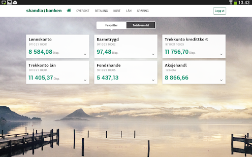 Skandiabanken Mobilbank - screenshot thumbnail