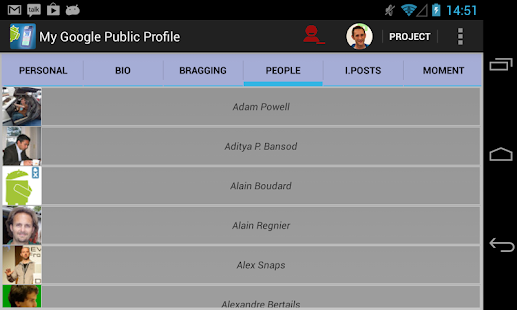 My Google Public Profile- screenshot thumbnail