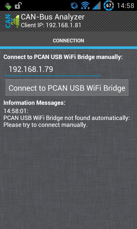 CAN-Bus Analyzer (PCAN USB) - screenshot