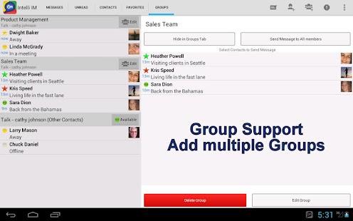 玩商業App Intelli IM - Lync, OCS, GTalk免費 APP試玩
