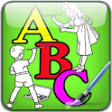 Alphabet Child ABC Color paint icon