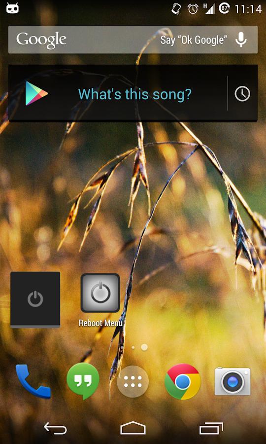 Reboot Menu Widget *ROOT*- screenshot