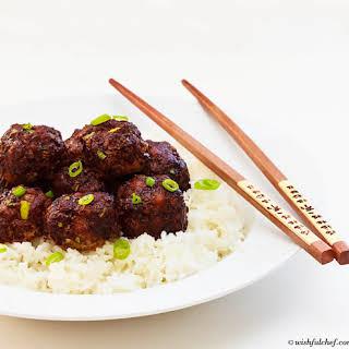 Asian Pork Meatballs.