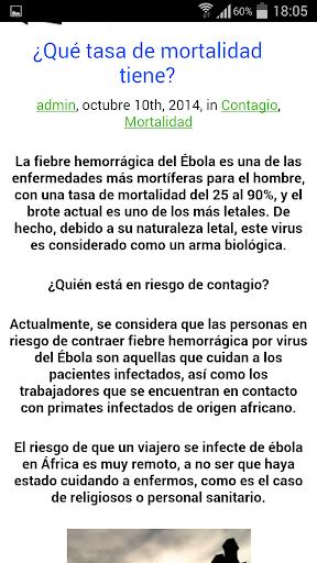 Todo sobre ébola