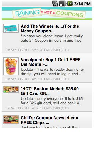 Raining Hot Coupons- screenshot