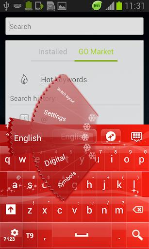 【免費個人化App】聖誕鍵盤紅色為GO-APP點子